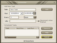 Donar MP3 Recorder :: Schedule View